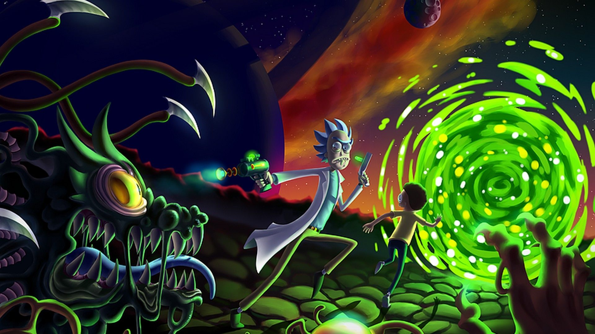Trippy Rick And Morty Wallpaper Posted By Christopher Anderson