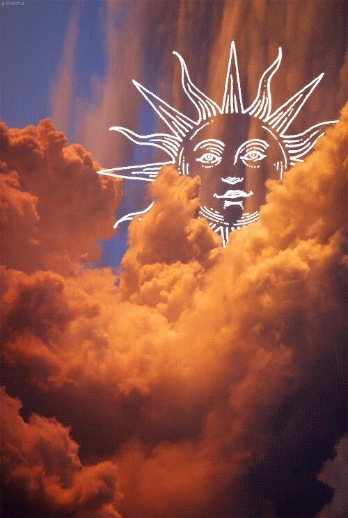 orange sun clouds wallpaper tumblr freetoedit