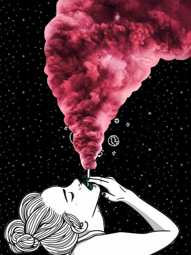 smoke girl tumblr look wallpaper collage wallpapers art