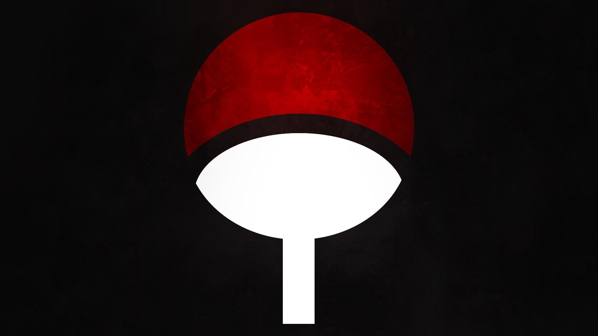 Wallpaper of Naruto, Red, Symbol, Uchiha Clan, White