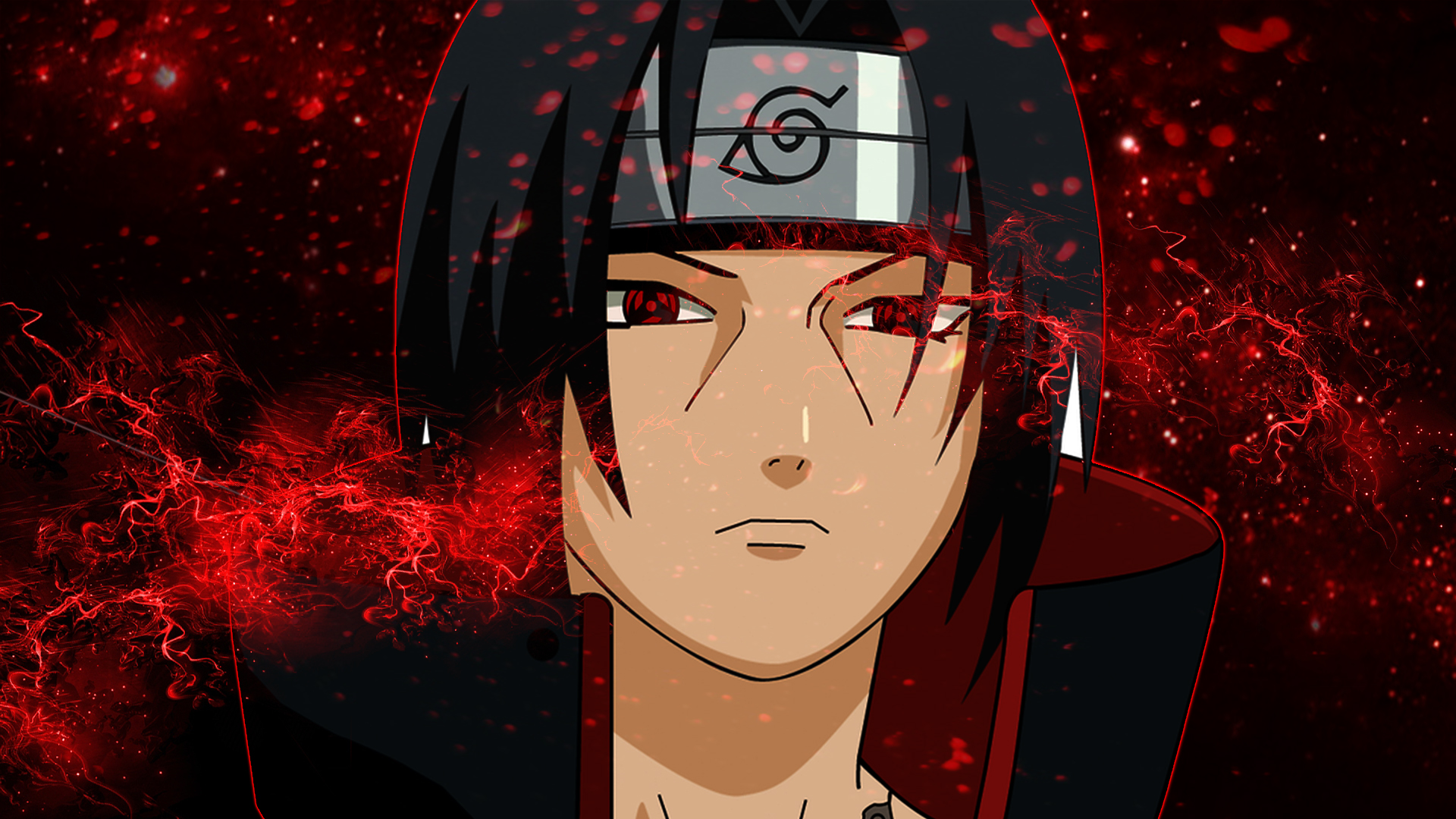 Wallpaper of Itachi Uchiha, Anime, Naruto, Sharingan