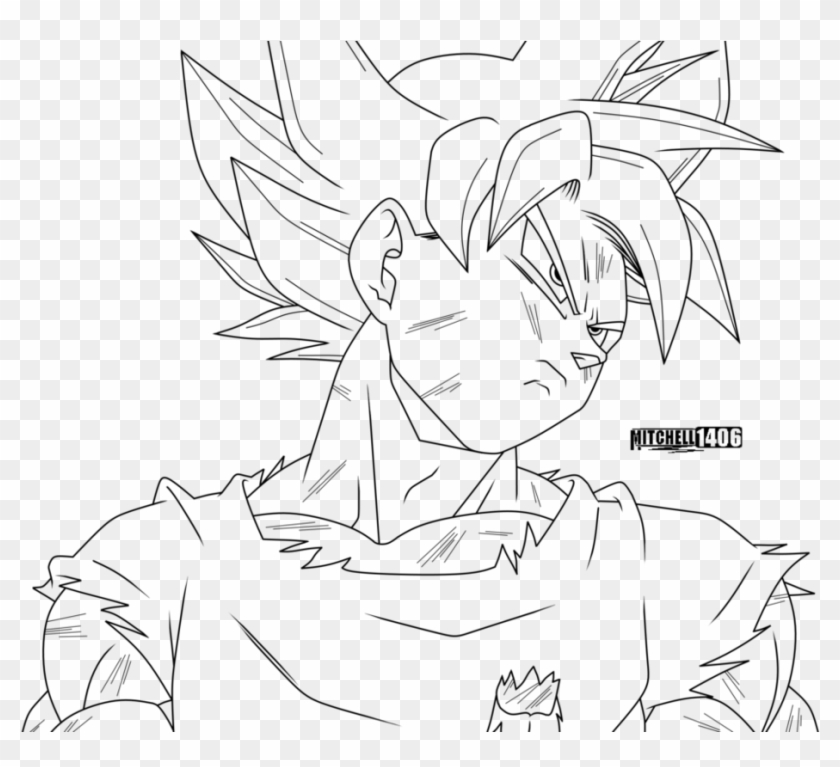 Goku Ultra Instinct Coloring Pages Coloring And Drawing