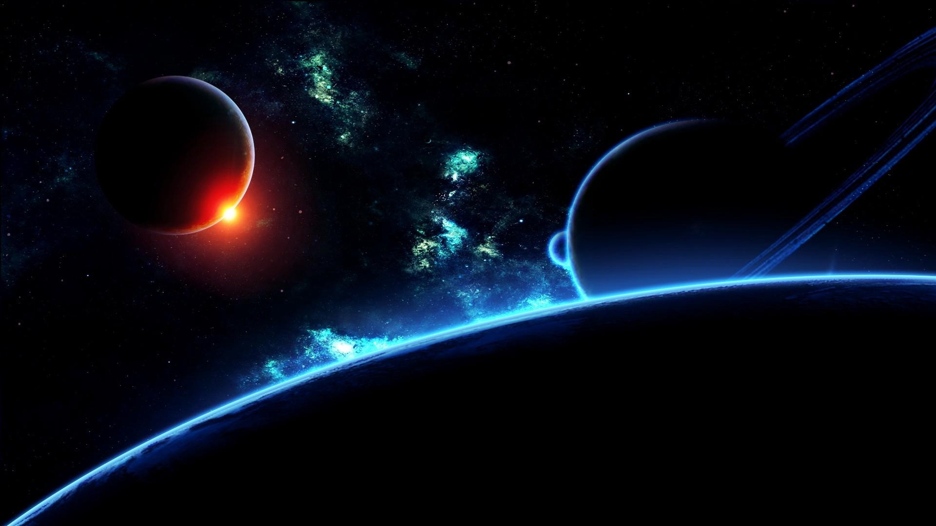 Download wallpaper 1920x1080 planet, universe, galaxy, stars