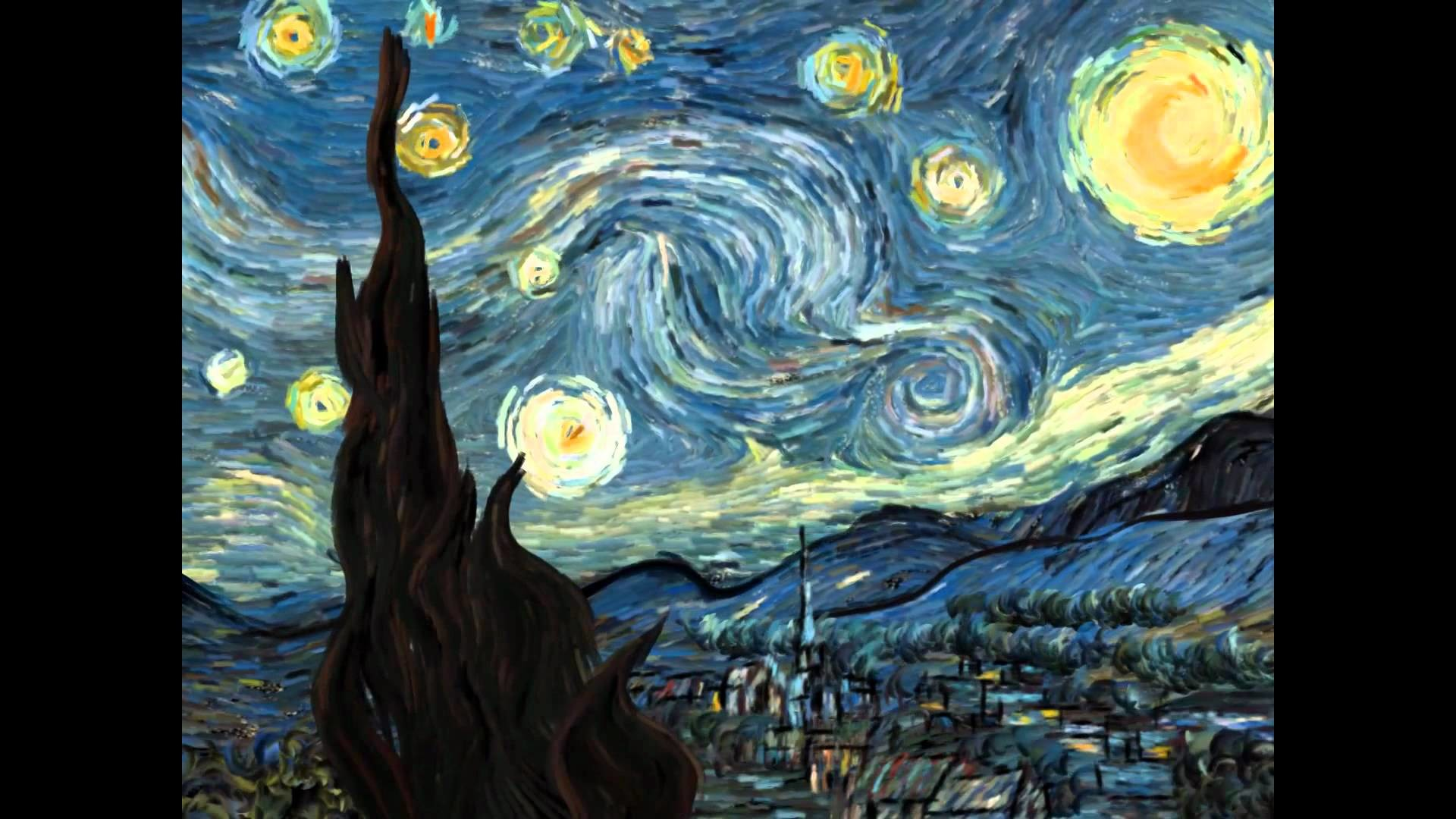 Van Gogh Starry Night Wallpaper Posted By Zoey Walker