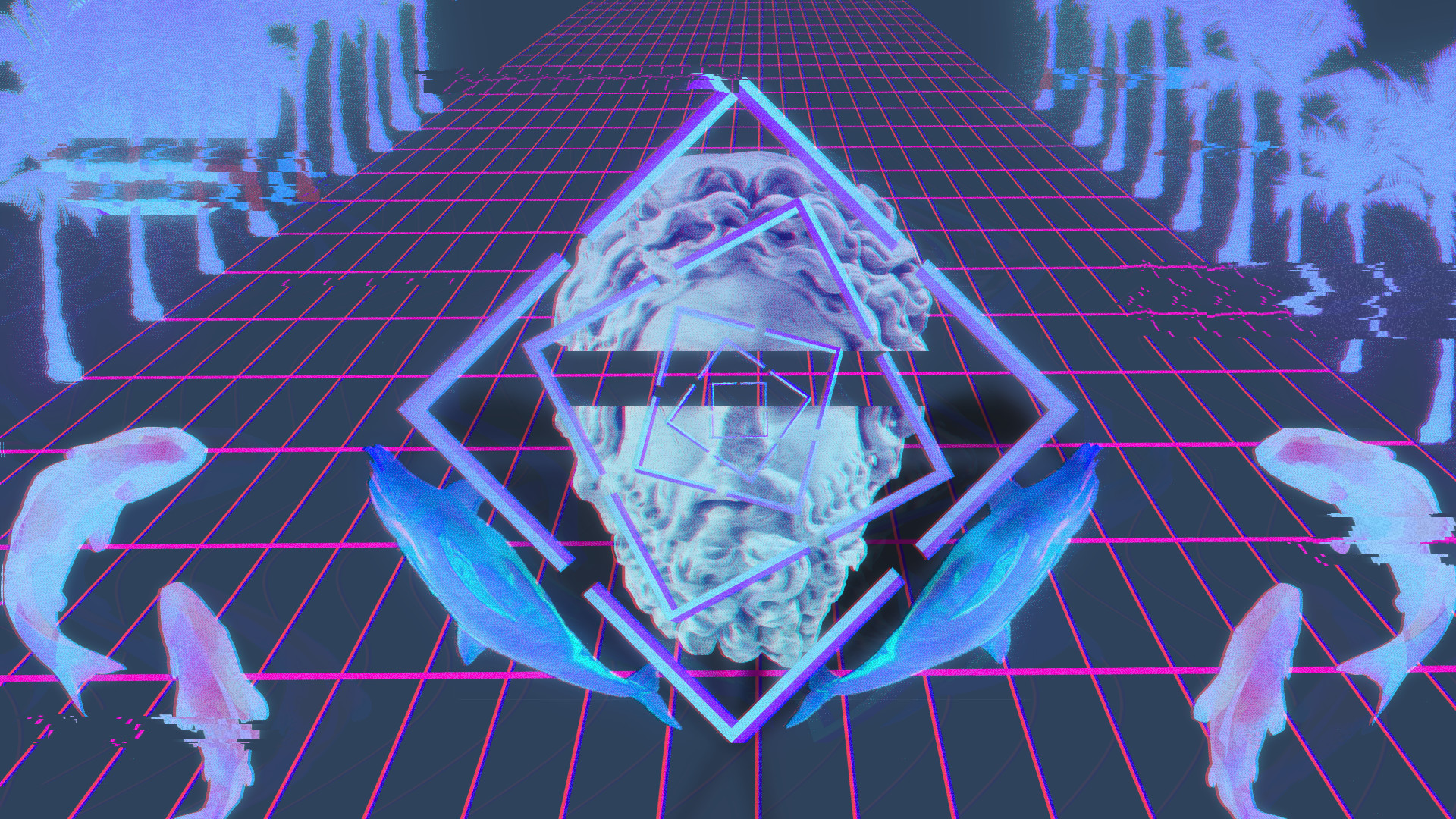 Vaporwave Pc Wallpaper Posted By Zoey Tremblay