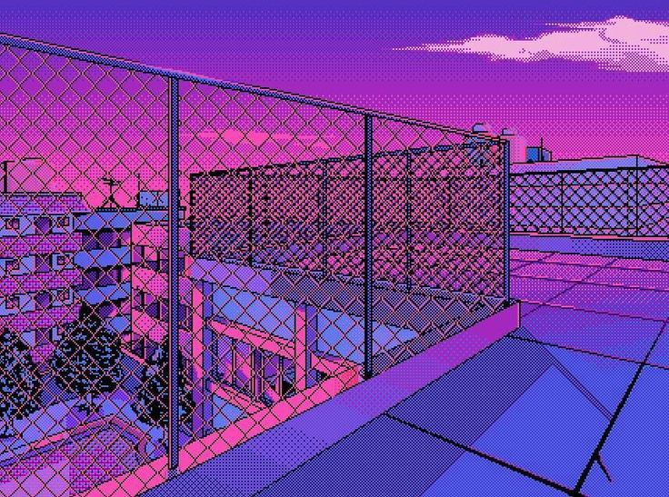 Vaporwave Pixel Art Wallpaper Posted By Ethan Walker