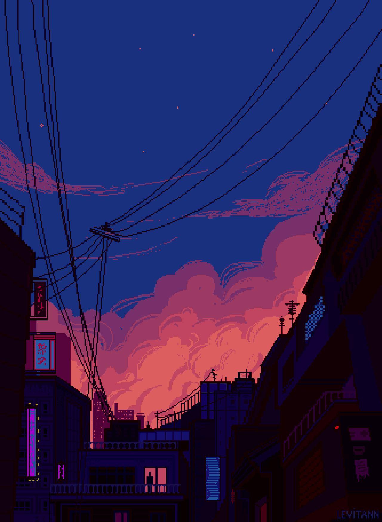 Vaporwave Sunset Wallpaper