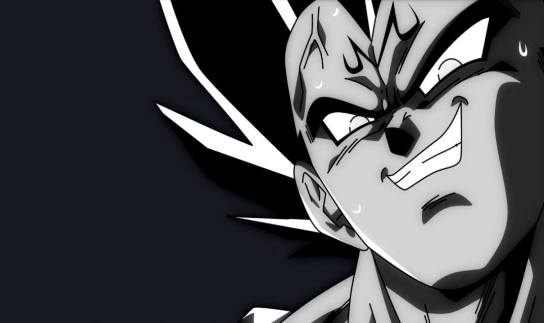 Vegeta Black And White Posted By Samantha Tremblay