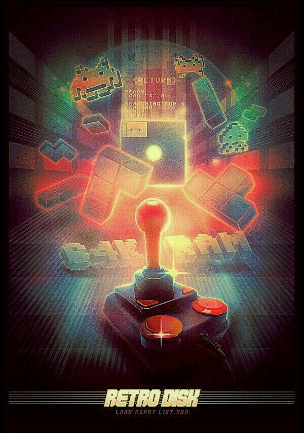 Old school retro gamer video game arcade phone wallpaper
