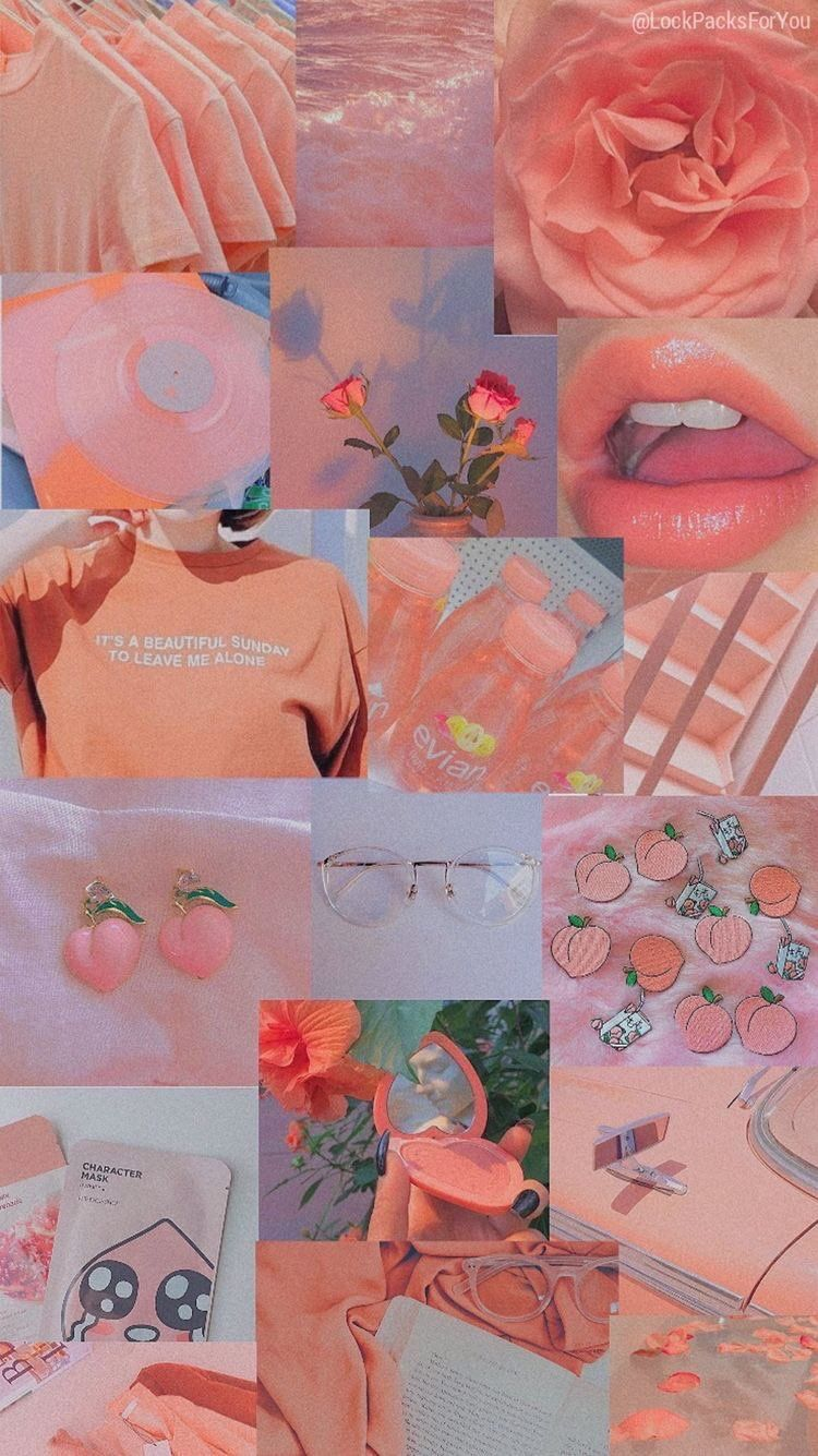 Aesthetic Vintage Peach Background, Hd Wallpapers
