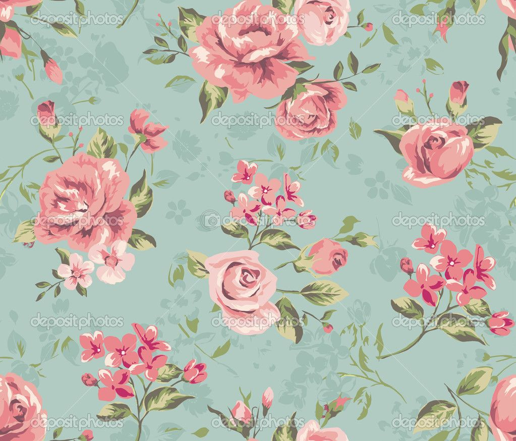 Vintage Flowers Wallpaper Posted By Ethan Sellers