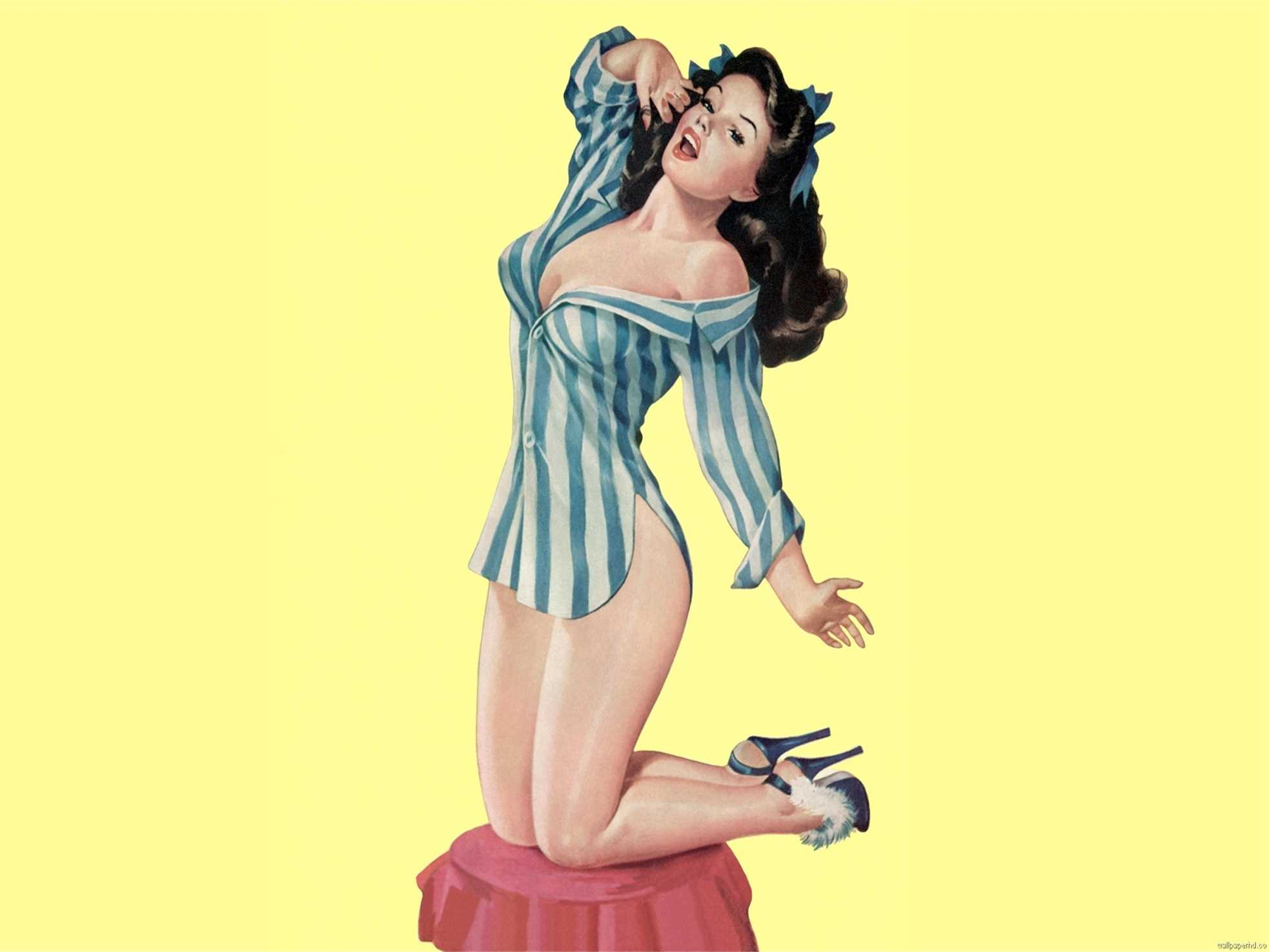 Vintage Pinup Girl Wallpaper Posted By Ethan Anderson