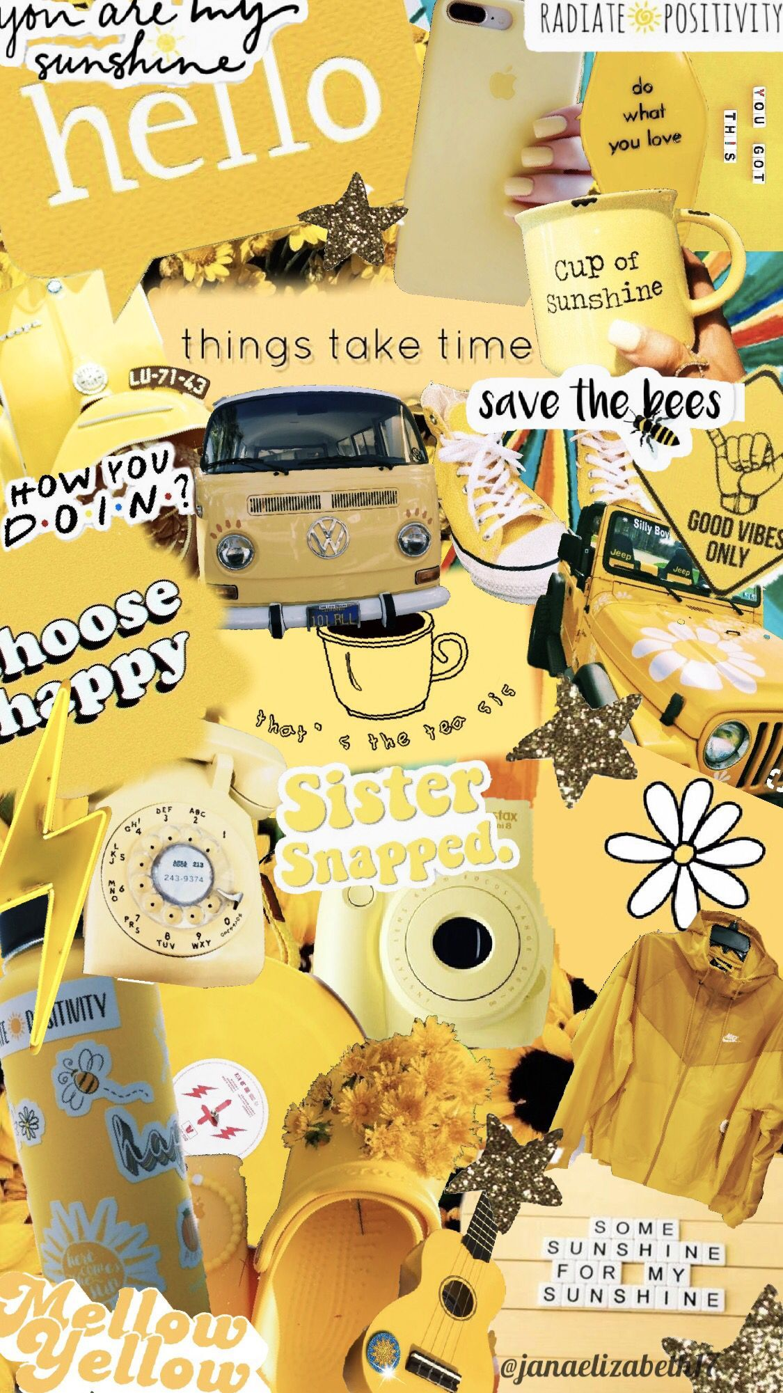 Yellow Aesthetic Wallpaper Stickers Decals | Quotes and ...