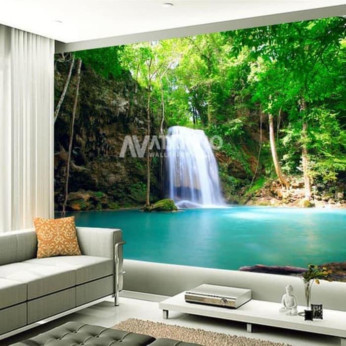 Jual Wallpaper DInding Custom 3D 3 DImensi Pemandangan Alam Air Terjun 2 Kota Pekalongan Skincare Dokter Jogja Tokopedia