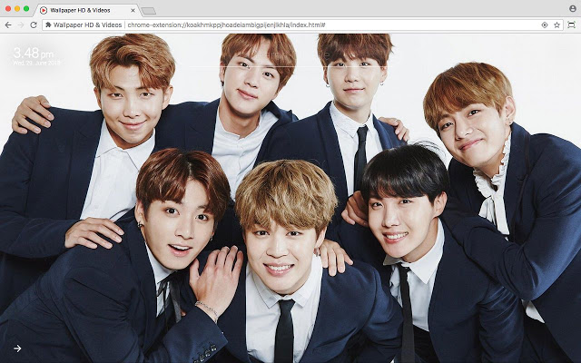 BTS Bangtan Boys Full HD Wallpaper New Tab
