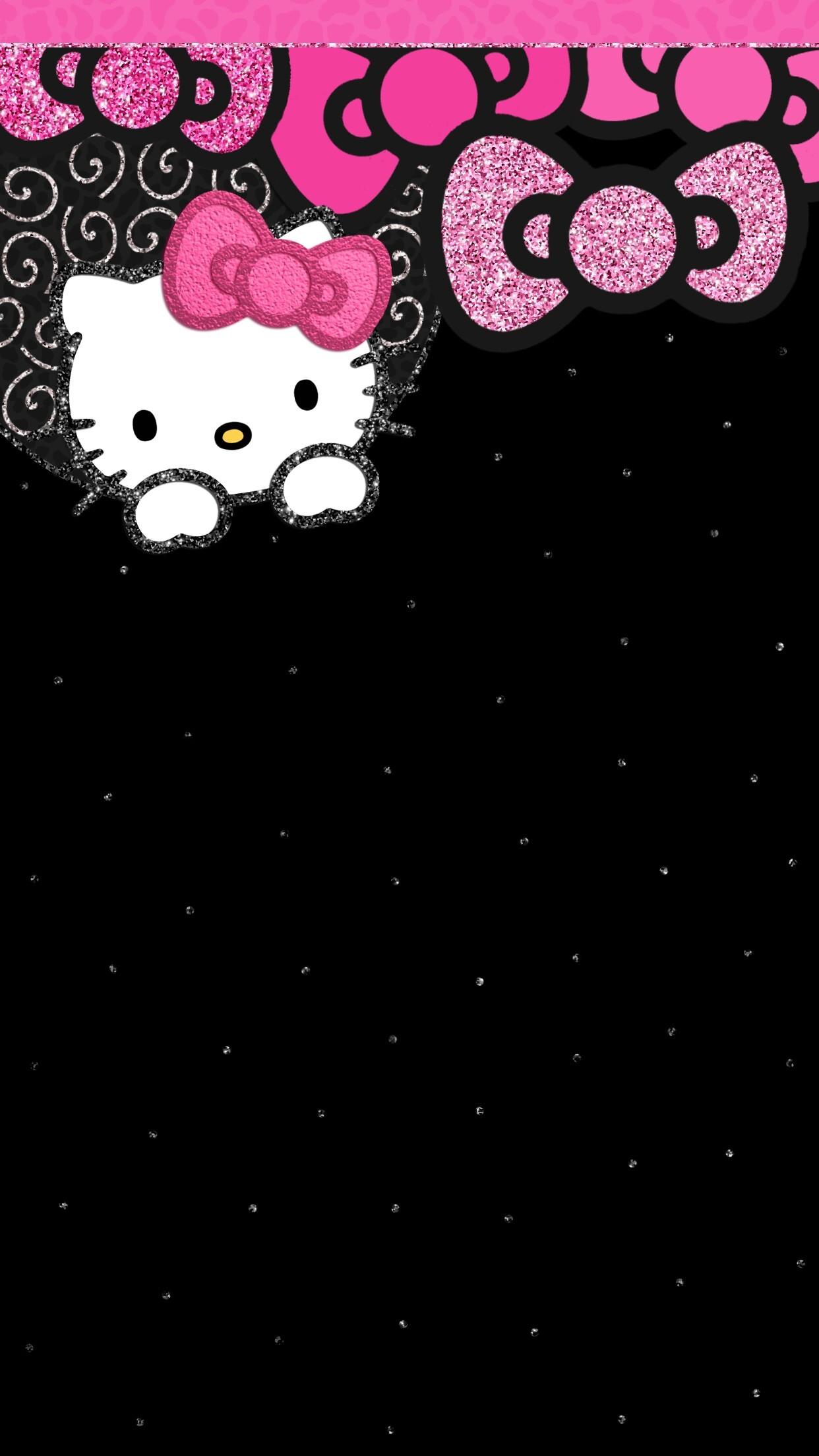 Hello Kitty Wallpaper Black And Pink Doraemon