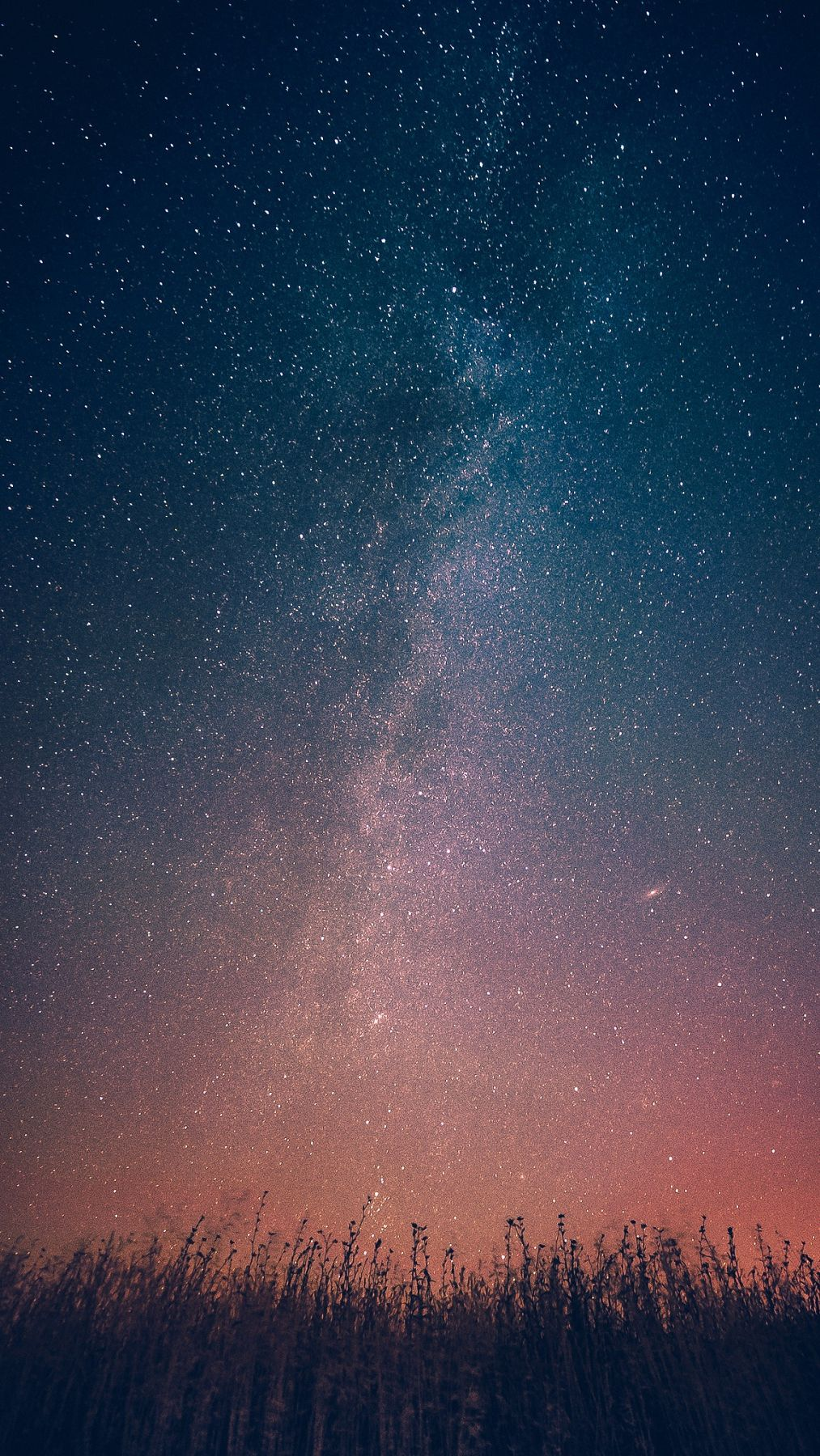 Milky Way Galaxy From Earth Infinite Stars iPhone Wallpaper
