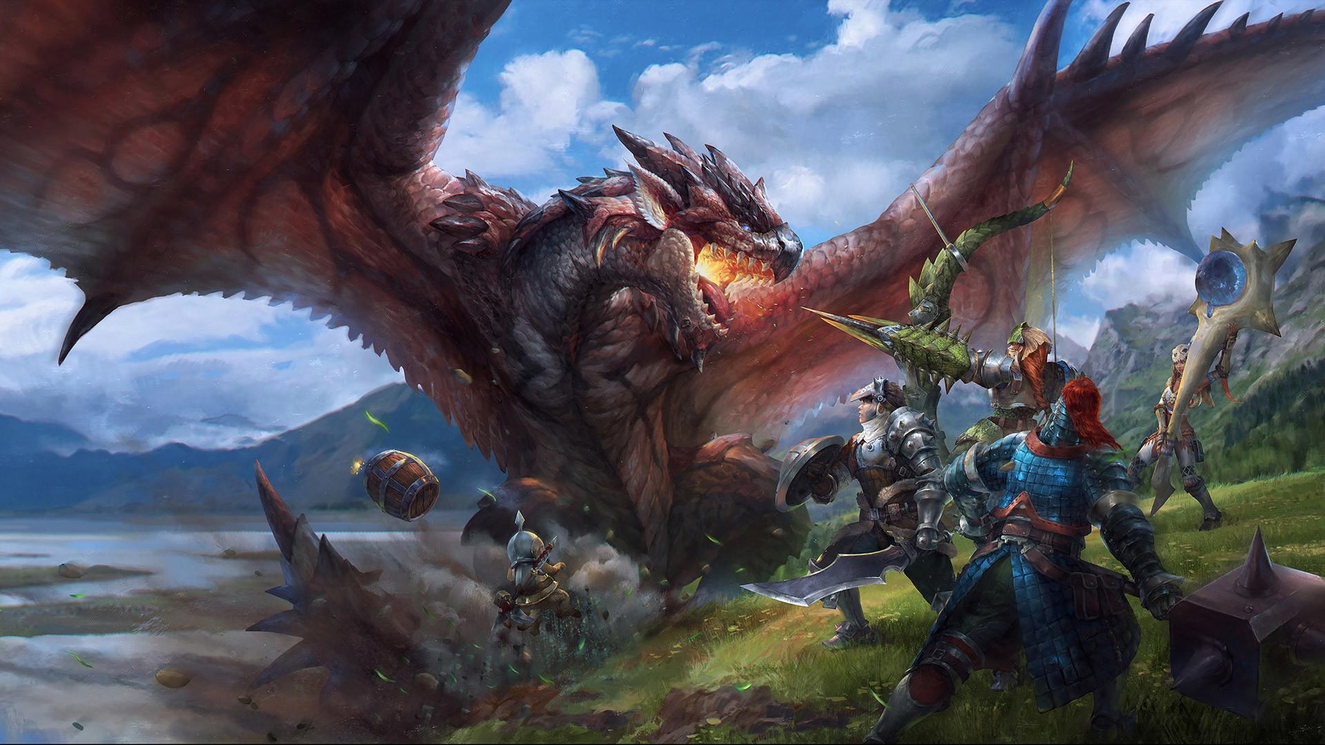 1080p monster hunter wallpaper hd