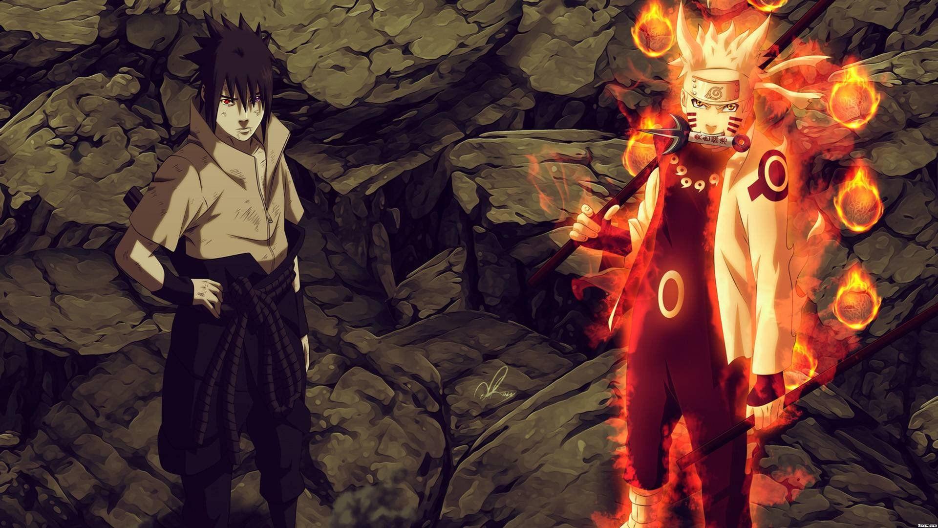 Naruto vs Sasuke Super HD HD desktop wallpaper Widescreen