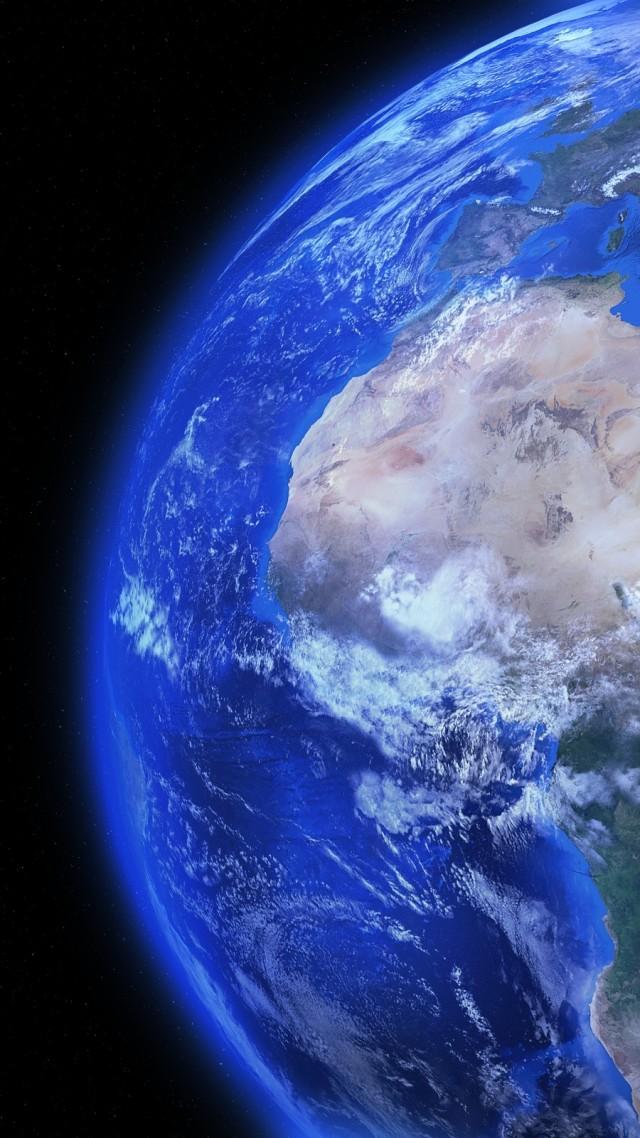 Wallpaper Earth, Moon, planet, galaxy, 4k, Space 17034