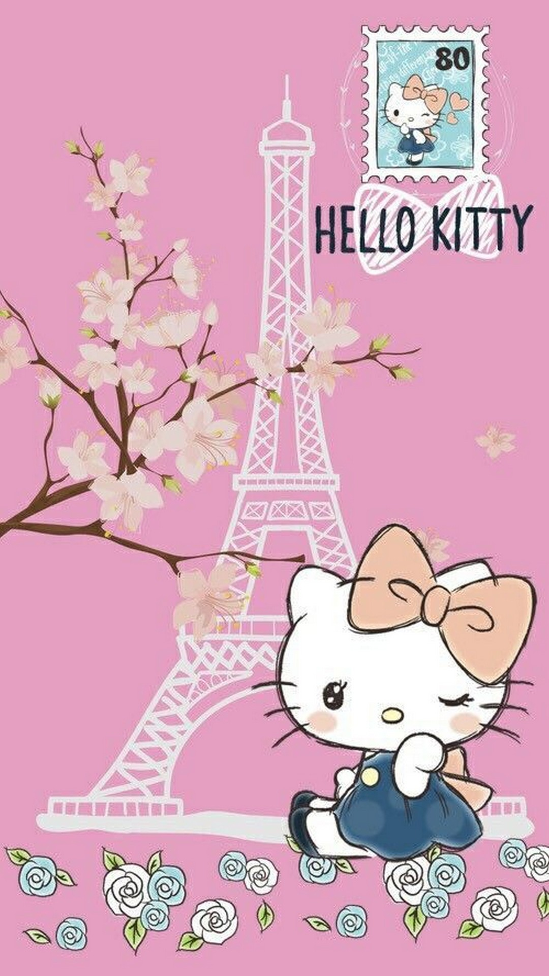 Wallpaper Of Hello Kitty Posted By Zoey Mercado