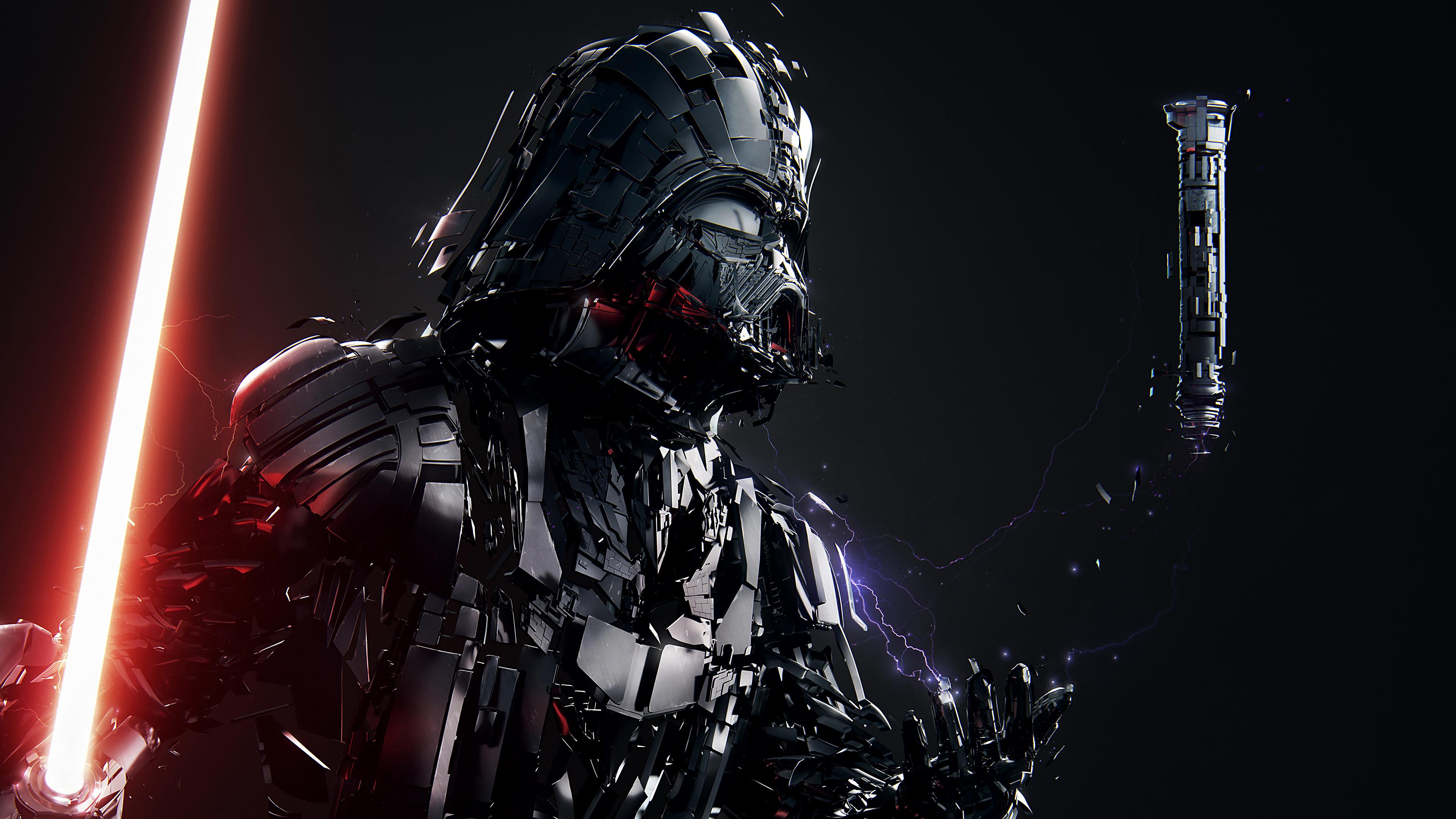 Darth Vader Lightsaber Star Wars Wallpaper 4k Ultra HD ID3649
