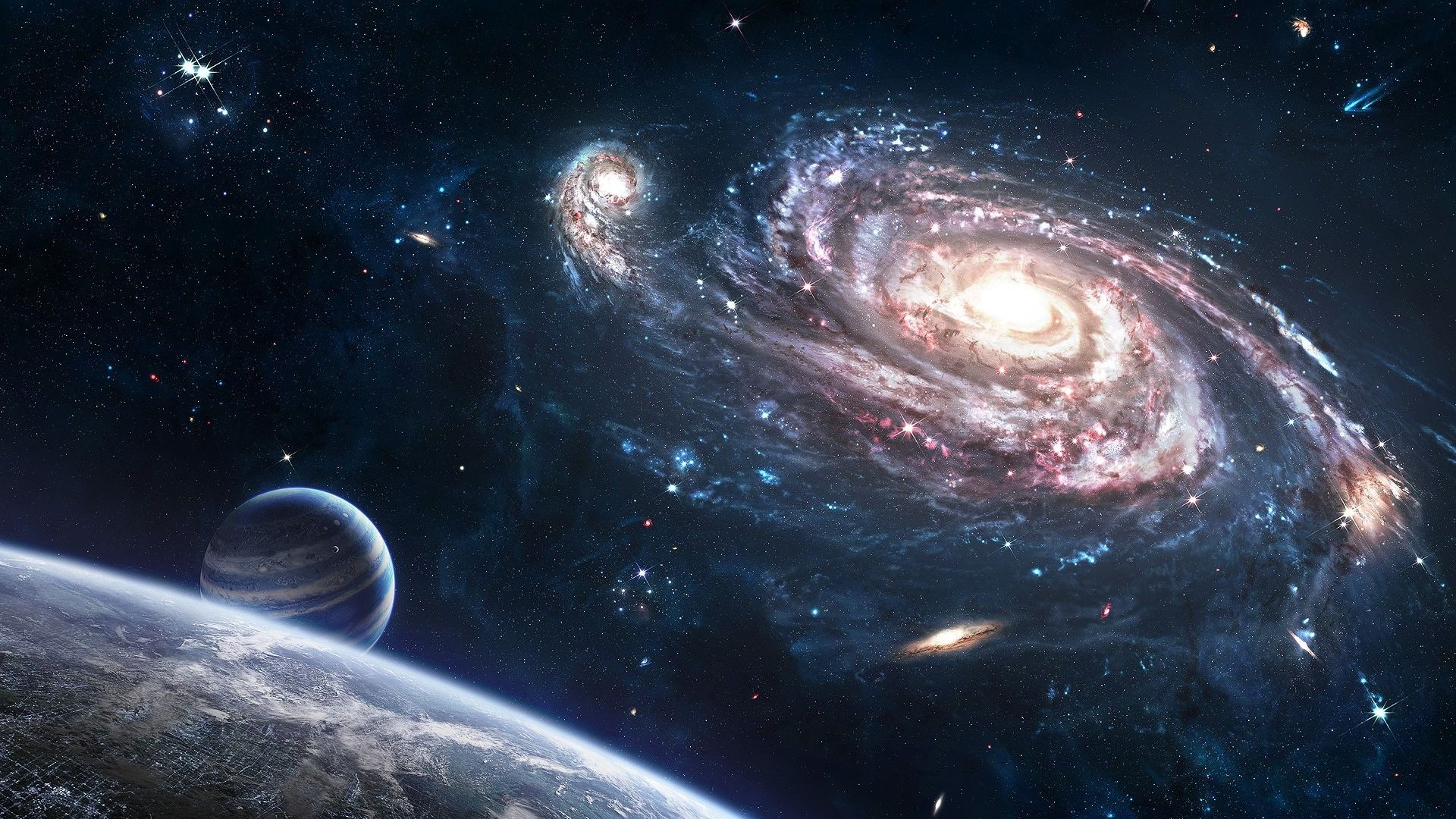 Galaxy Planet Wallpaper Wallpaper Stream