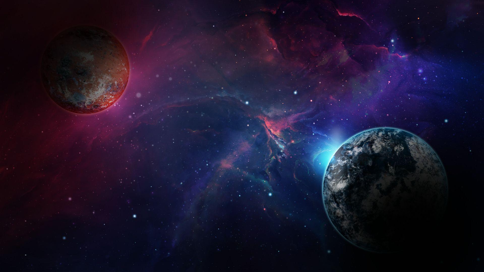 space, galaxy, planet, 4k horizontal in 2019 Wallpaper