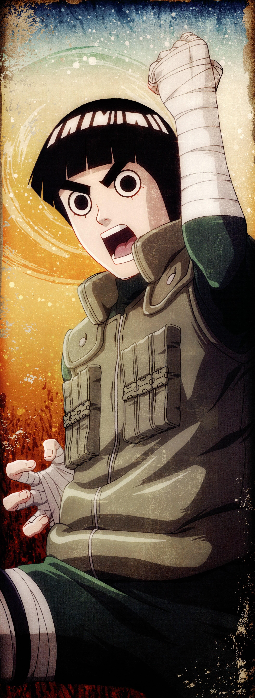 Rock Lee from Naruto illustration, Naruto Shippuuden, Rock