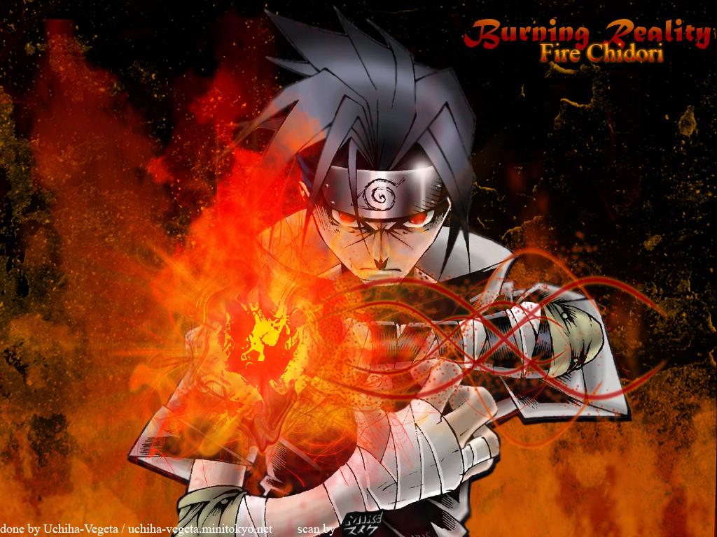 Naruto Wallpaper = Fire Chidori = Minitokyo