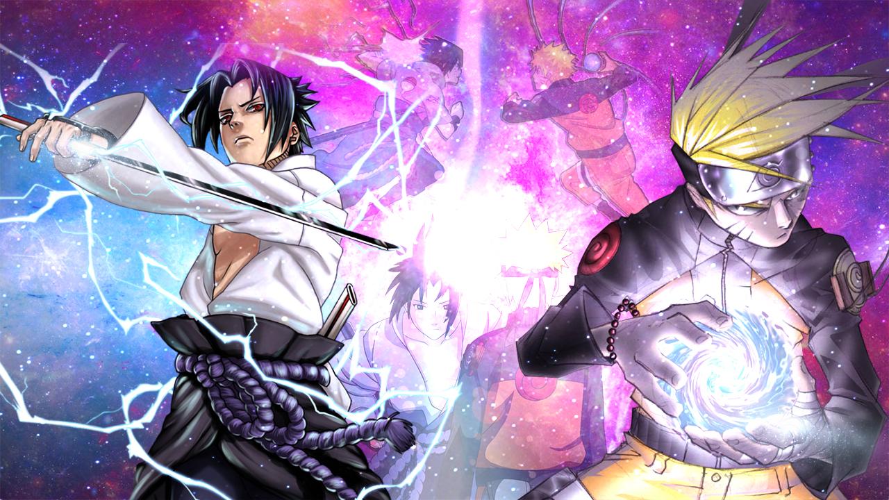 Naruto vs Sasuke Wallpaper by SapphireYanou on DeviantArt