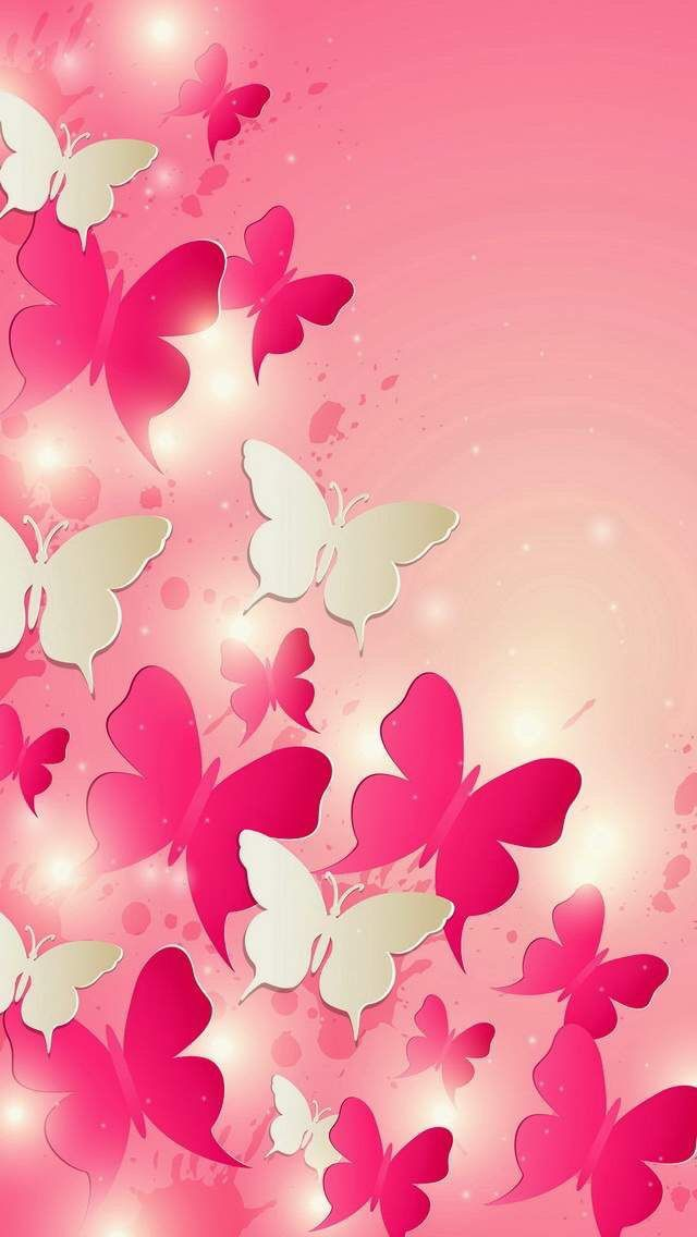 Pink Butterflies Wallpaper 30+ images on Genchi.info