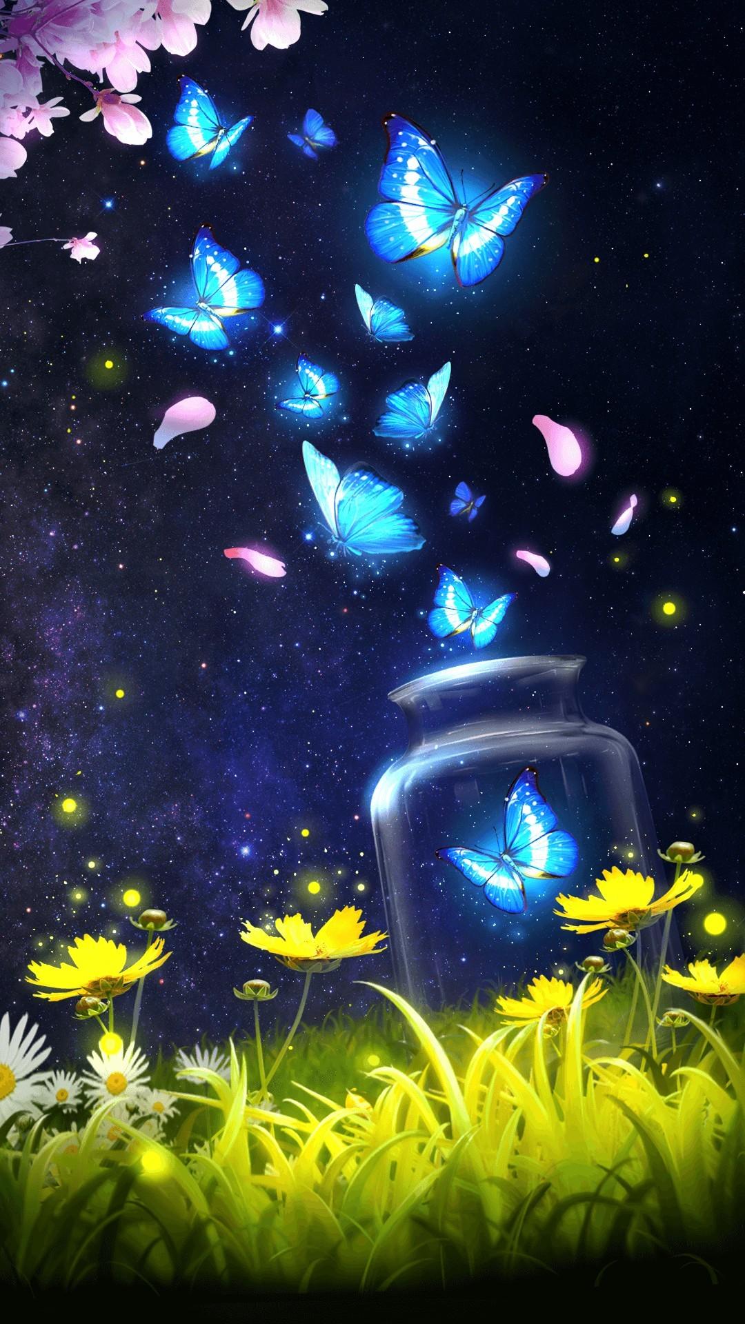 Wallpaper Iphone Glitter Butterfly