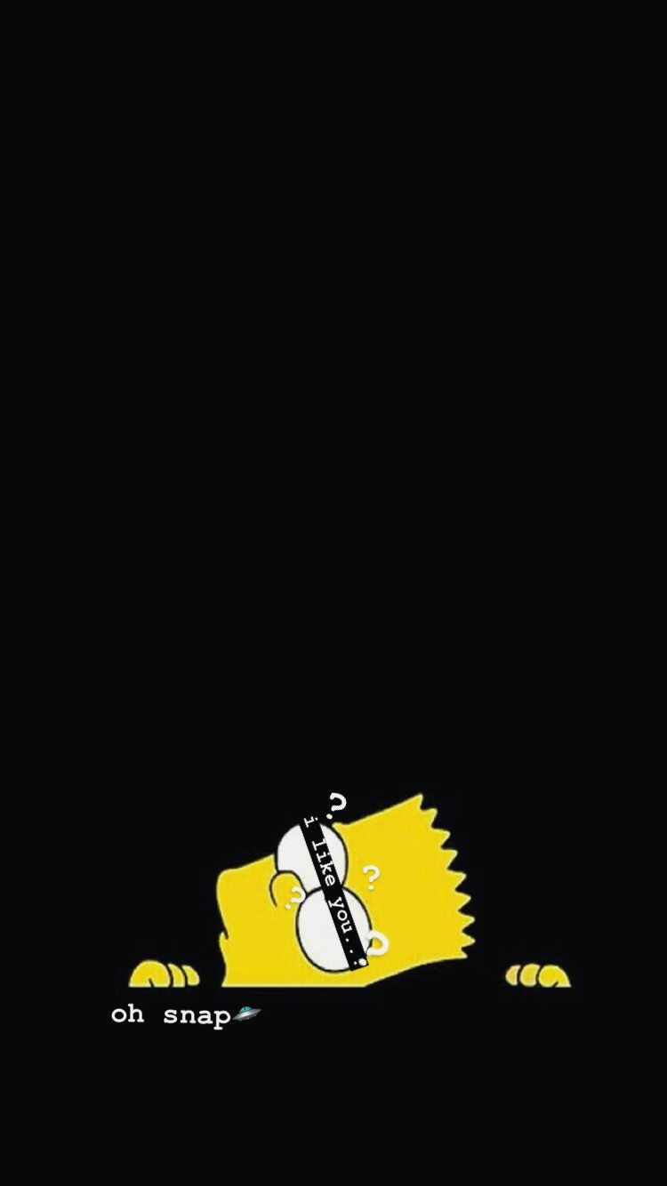 Simpson Wallpaper Iphone Sad Wallpaper Black Wallpaper