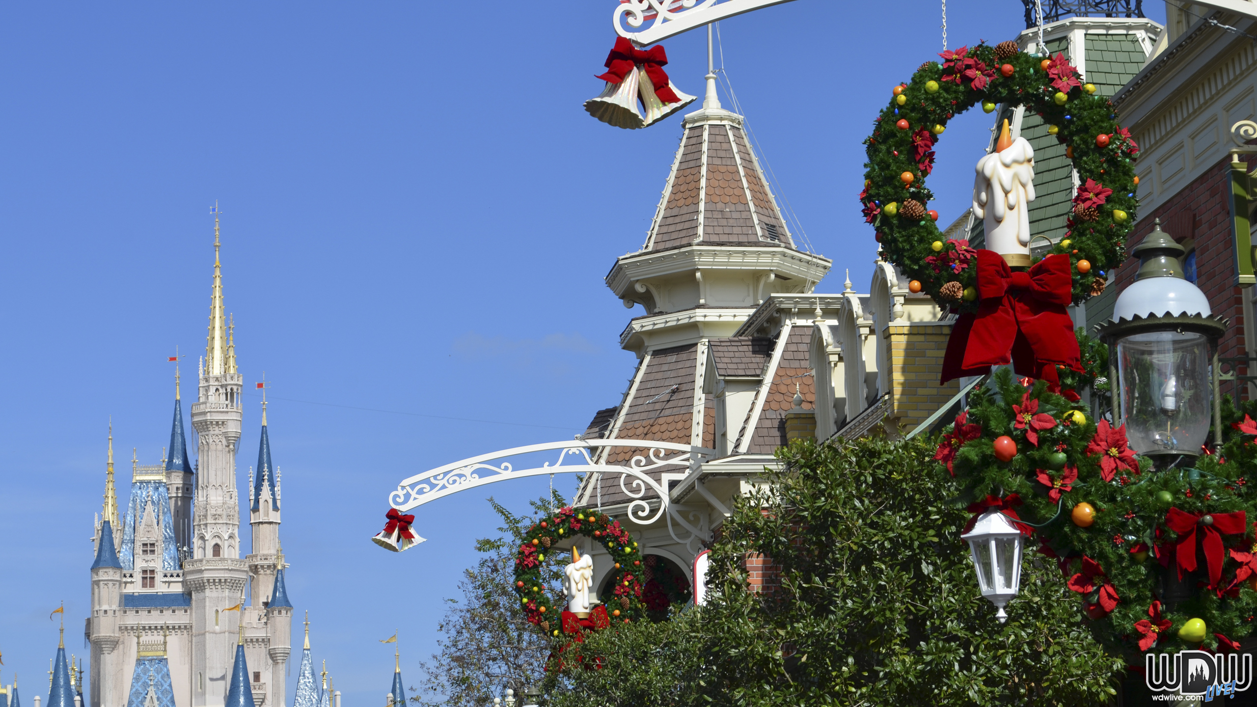 Related For Magic Kingdom Christmas Wallpaper, Hd Wallpapers