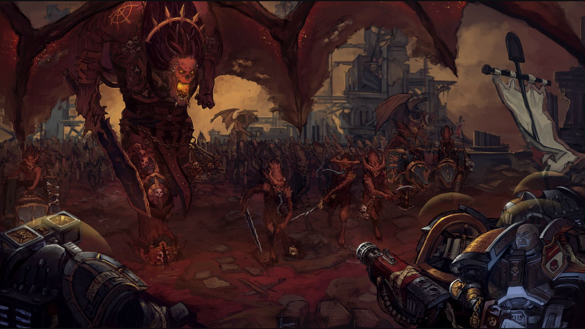 Warhammer 40k Wallpaper Imperial Guard Posted By Ethan Walker