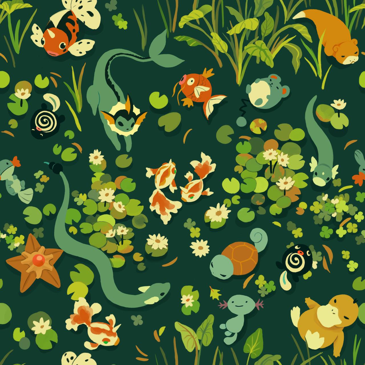 Water Pokemon Background