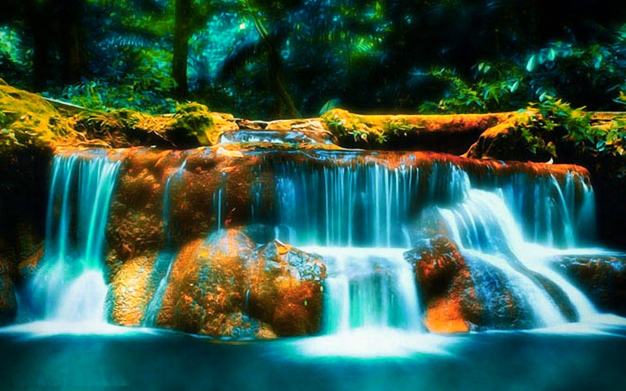 3d waterfall wallpaper for desktop waterfall beautiful