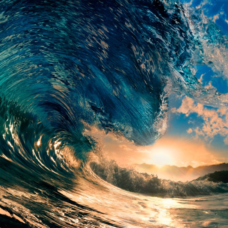 Waves Desktop Wallpaper Posted By John Thompson