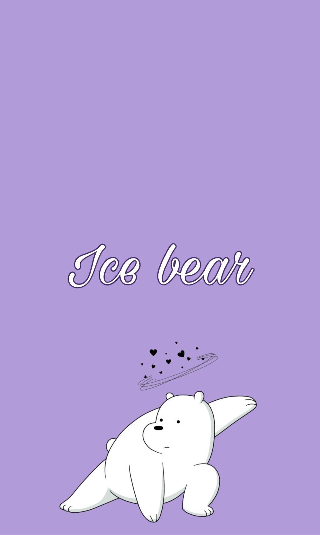 WE BARE BEARS Ice Bear IPhone Wallpaper a d webearbear