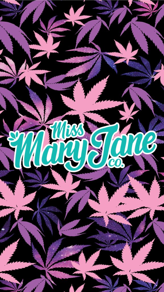 Phone Wallpaper Galaxy Weed Print Miss Mary Jane Co.