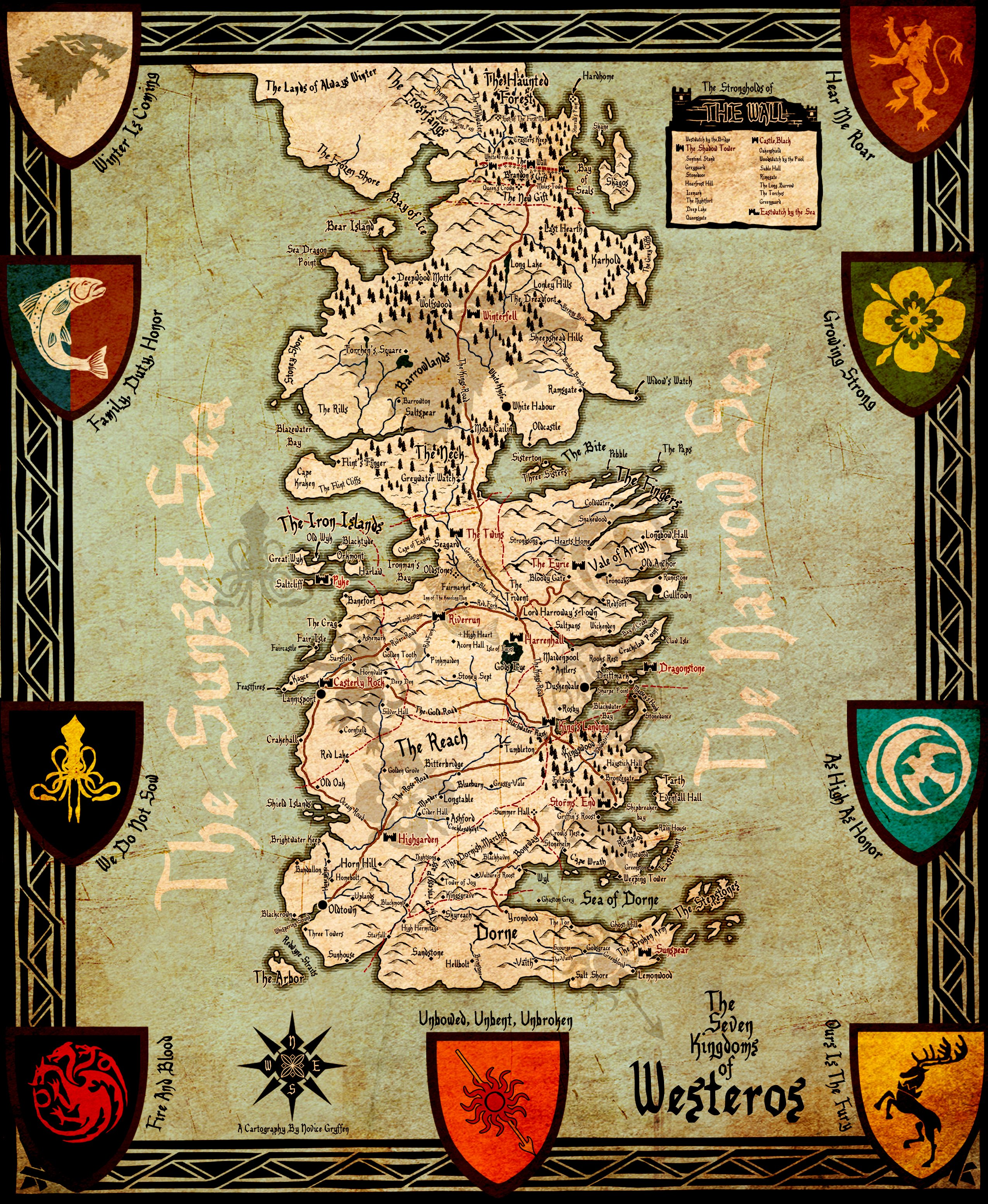 Westeros Map Wallpaper Posted By Sarah Johnson