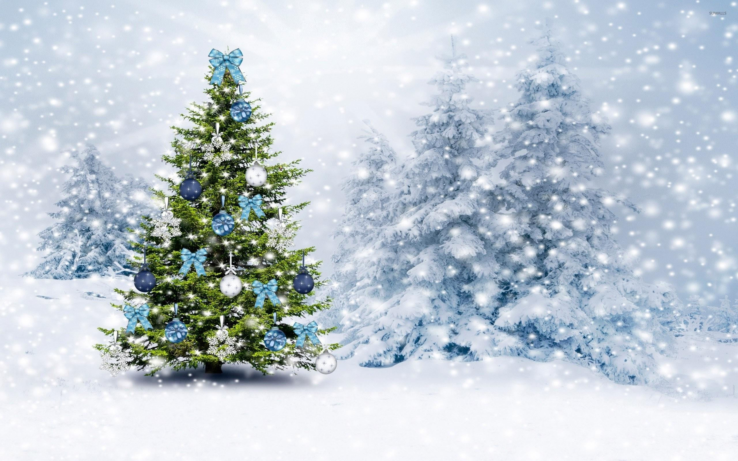White Christmas Tree Wallpaper , Free Stock Wallpapers on