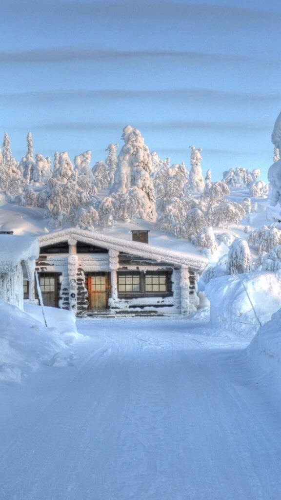 Winter Cabin Wallpaper Posted By Zoey Thompson