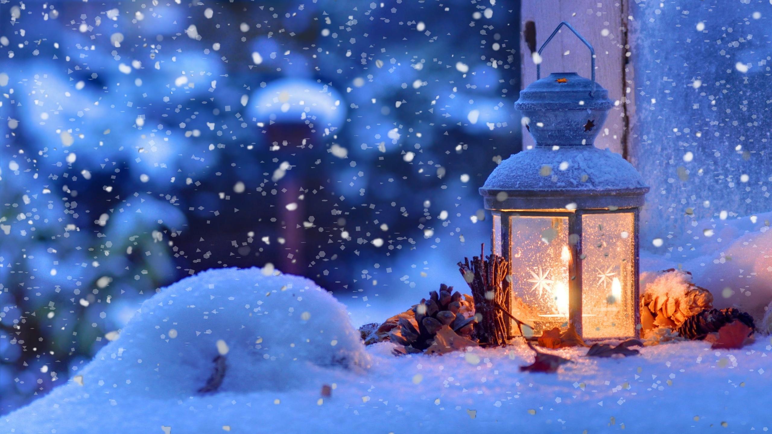 Christmas Snowflakes Winter Light Desktop Wallpaper