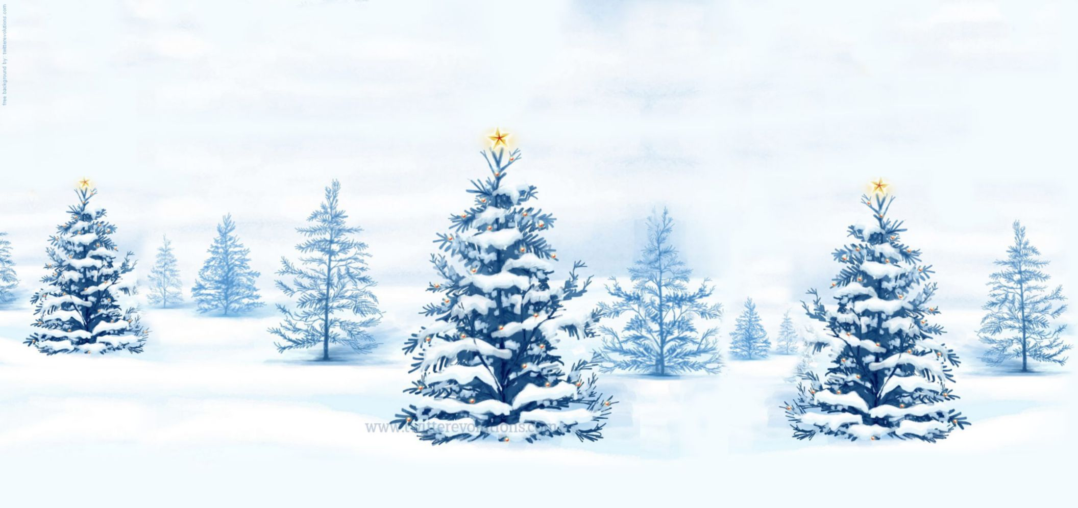Snowy Winter Christmas Tree Wallpaper Desktop HD Wallpaper