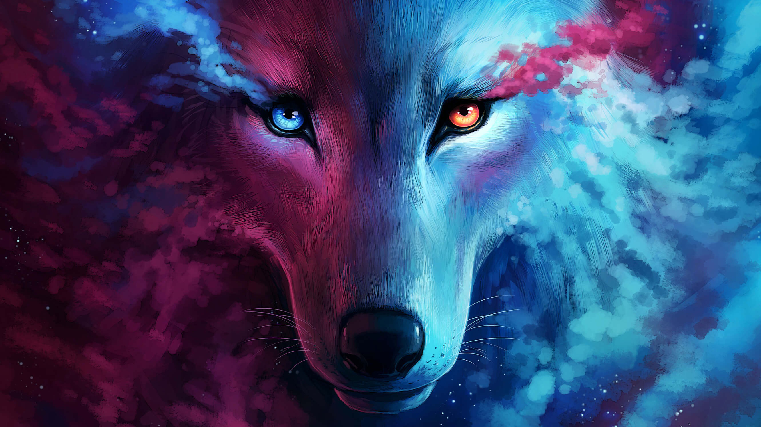 Wolf Galaxy Wallpaper Posted By John Anderson