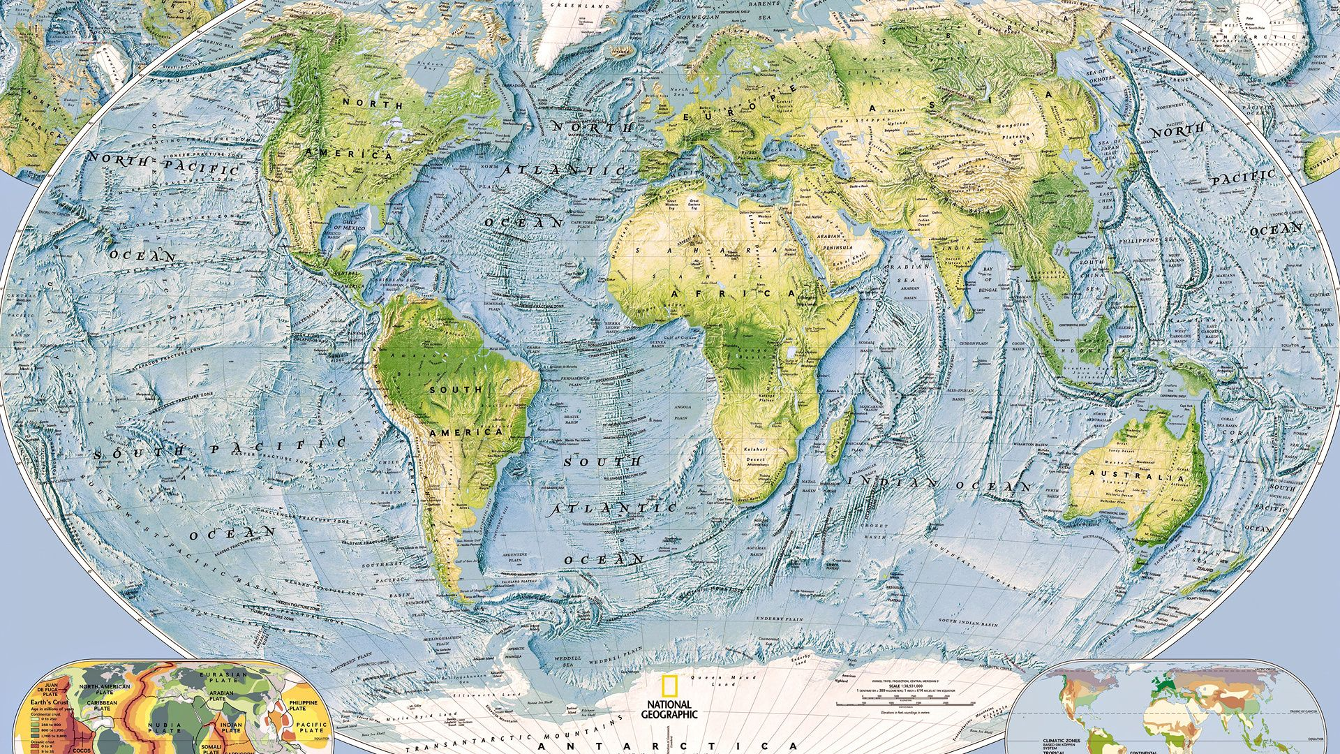 World Map 1920x1080 Posted By Samantha Walker