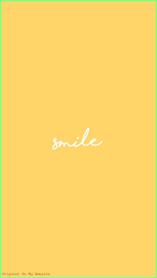 Iphone Wallpaper Aesthetic yellow background