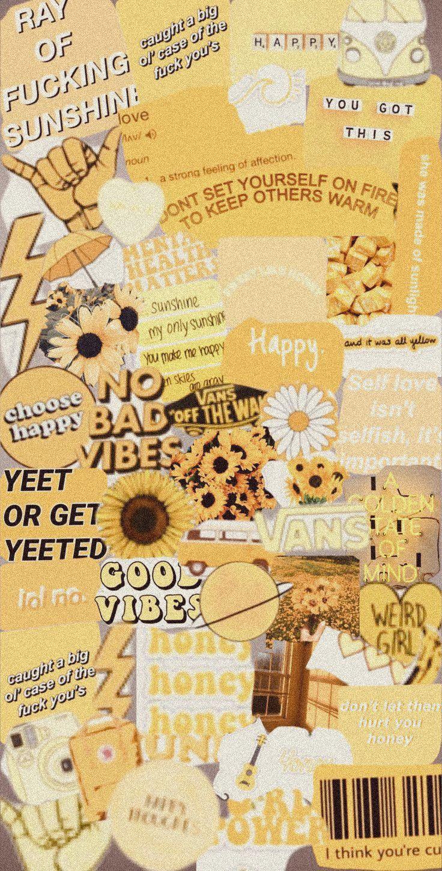 Yellow aesthetic wallpaper for pho3nix07 hope you like